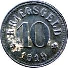 10 Pfennig  (Lohr am Main) [Stadt, Bayern] – revers