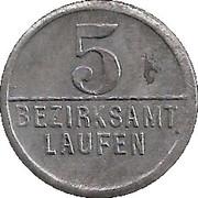 5 Pfennig (Laufen) [Bezirksamt, Bayern] – revers