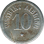 10 pfennig (Aibling) – avers