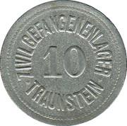 10 pfennig - Traunstein (Zivilgefangenenlager) – avers