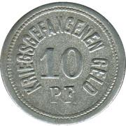 10 pfennig - Traunstein (Zivilgefangenenlager) – revers