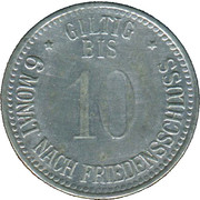 10 Pfennig (Eggenfelden) [Private, Bayern, Distriktsparkasse] – revers