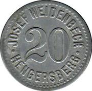 20 Pfennig (Hengersberg) [Private, Bayern, Josef Weidenbeck] – avers