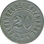 20 Pfennig (Hengersberg) [Private, Bayern, Josef Weidenbeck] – revers