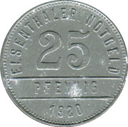 25 Pfennig (Elsenthal) [Private, Bayern, Papierfabrik Grafenau] – revers