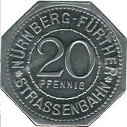 20 Pfennig (Nürnberg-Fürther) [Strassenbahn, Bayern] – avers