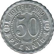 50 Pfennig (Augsbourg) [Strassenbahn, Bavière] – revers