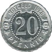 20 Pfennig (Augsburg) [Strassenbahn, Bayern] – revers