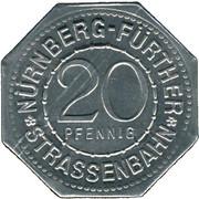 20 Pfennig (Nürnberg-Fürther) [Strassenbahn, Bayern] -  avers