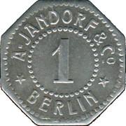 1 Pfennig (Berlin) [Private, Brandenburg, A. Jandorf & Co.] – avers