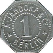 1 Pfennig (Berlin) [Private, Brandenburg, A. Jandorf & Co.] – revers