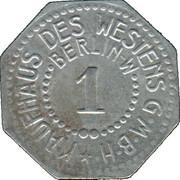 1 Pfennig (Berlin) [Private, Brandenburg, Kaufhaus des Westens G.M.B.H – revers