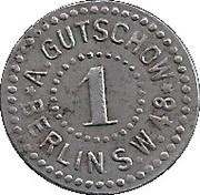 1 Pfennig Gutschow – avers
