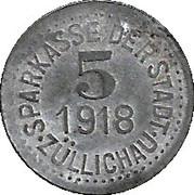 5 Pfennig (Züllichau) – avers