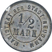½ Mark (Neudamm) – revers