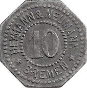 10 Pfennig (Bremen) – avers