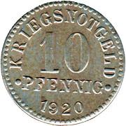 10 Pfennig (Herzogtum Braunschweig) – revers