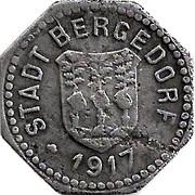 20 Pfennig (Bergedorf) – avers
