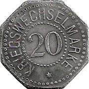 20 Pfennig (Bergedorf) – revers