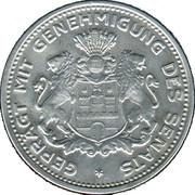 5/100 Verrechnungsmarke (Hamburg) [Private, Hamburgische Bank A.G.) – revers