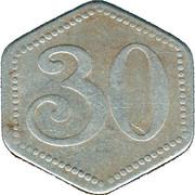 30 Pfennig (Hamburg) [Hochbahn, Freistaad] – revers