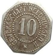 10 Pfennig (Heldrungen) [Private, Gewerkschaft Heldrungen II] -  avers