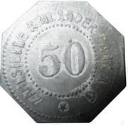 50 Pfennig (Quakenbrück) [Stadt, Hannover] – revers