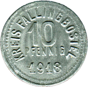 10 Pfennig (Fallingbostel) [Kreis, Hannover] – avers