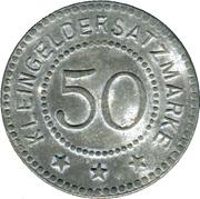 50 Pfennig (Freden am Leine) [Private, Hannover, Glasfabrik Scheidhorst] – revers