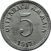 5 Pfennig (Offenbach am Main) – avers