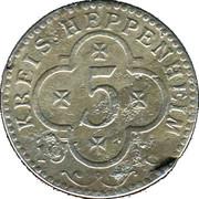 5 Pfennig (Heppenheim) [Kreis, Hessen] – avers