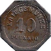 10 Pfennig (Bensheim) [Stadt, Hessen] – revers