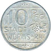 10 Pfennig (Worms) [Stadt, Hessen] – avers