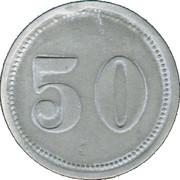 50 Pfennig (Alsfeld) [Stadt, Hessen] – revers