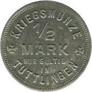 ½ Mark (Tuttlingen) [Stadt, Württemberg] – revers