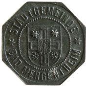50 Pfennig (Bad Mergentheim) [Stadtgemeinde, Württemberg] – avers