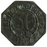 50 Pfennig (Bad Mergentheim) [Stadtgemeinde, Württemberg] – revers