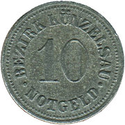 10 Pfennig (Künzelsau) [Bezirk, Württemberg] – avers