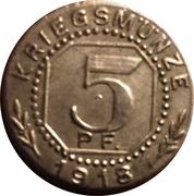5 Pfennig (Welzheim) [Private, Württemberg, Amtskörperschaft] – revers
