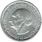 ¼ Million Mark (Westfalen) [Provinz, Landesbank Westfalen] – revers