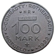 100 marks (Rothenbach) – avers
