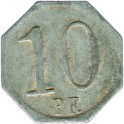 10 Pfennig (Wasseralfingen) [Stadt, Württemberg] – revers