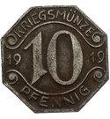 10 Pfennig (Neckarsulm) [Gemeinde, Württemberg] – avers