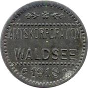 5 pfennig (Waldsee) – avers