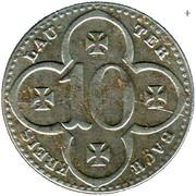 10 pfennig nécessité (Lauterbach) – avers