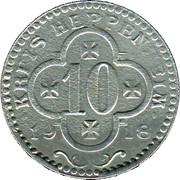 10 Pfennig (Heppenheim) [Kreis, Hessen] – avers