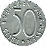 50 pfennig nécessité (Budingen) – avers