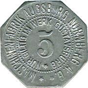 5 Pfennig (Gustavsburg) (Private, Hessen, Maschinenfabrik Augsburg-Nürnberg] – avers