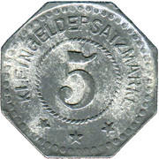 5 Pfennig (Gustavsburg) (Private, Hessen, Maschinenfabrik Augsburg-Nürnberg] – revers