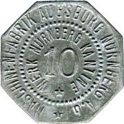 10 Pfennig (Nürnberg) (Private, Hessen, Maschinenfabrik Augsburg-Nürnberg] – avers